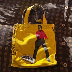 NYC Andy Warhol Elvis Tote Bag Purse Canvas Yellow Screen Print Large for Sale in Boring, OR