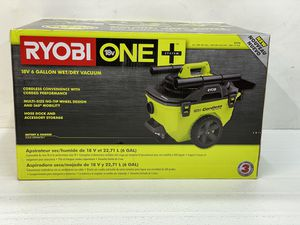 RYOBI 18-Volt ONE+ 6 Gal. Cordless Wet/Dry Vacuum (Tool Only) with Hose, Crevice Tool, Floor Nozzle and Extension Wand for Sale in Bakersfield, CA
