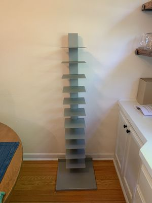 Grey vertical book shelves 2 available for Sale in Portland, OR