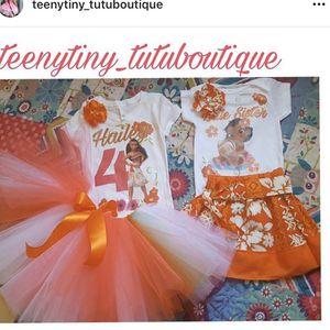 Moana Inspired Tutu Set Birthday for Sale in Redondo Beach, CA