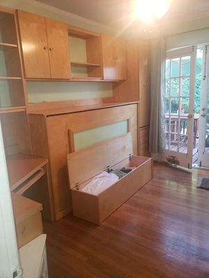 Desk, Murphy Bed, Storage Combination. for Sale in Oakland, CA