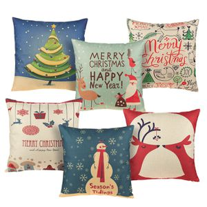6-Pack Colorful Decorative Couch Throw Pillow Cases, Vintage Christmas Illustration Design, Festive Home Decor Cushion Covers, Fits 18 x 18 Pillows for Sale in Henderson, NV