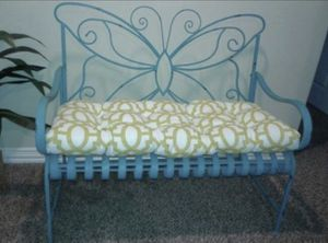 Blue Metal Bench Butterfly for Sale in Richmond, TX