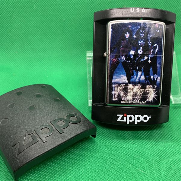 Zippo Lighter Vintage Kiss Band Design