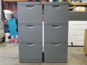 Fike Cabinet - 3 Drawer, Letter Size, Grey Color for Sale in Martinez, CA