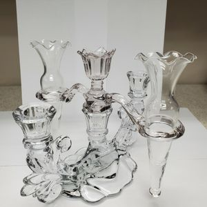 Glass Candelabra/Flower Abra for Sale in Chicago Heights, IL