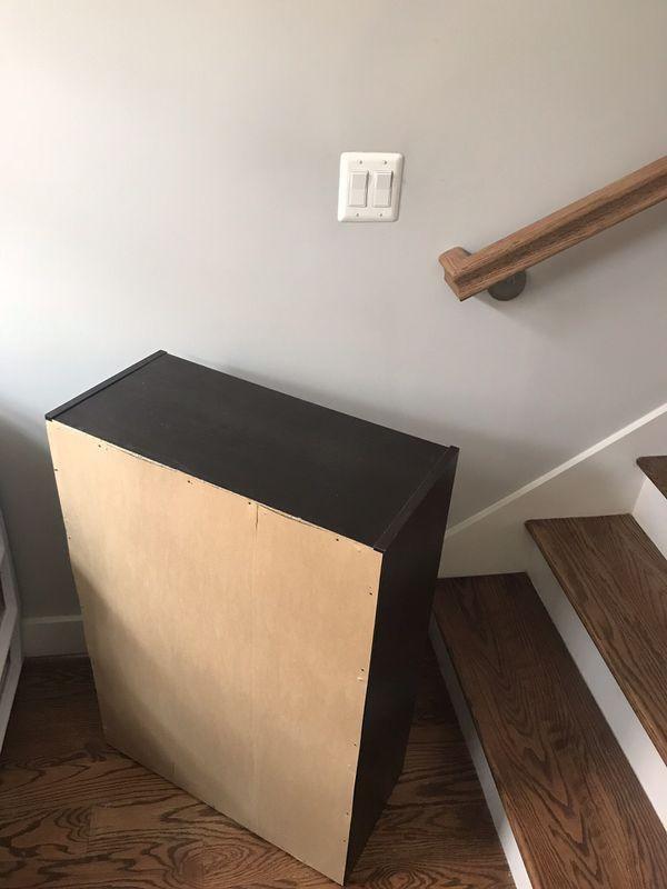Black/Brown 3 Shelf Bookcase
