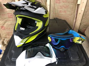 509 snowmobile helmet and goggles for Sale in Wolcott, CT