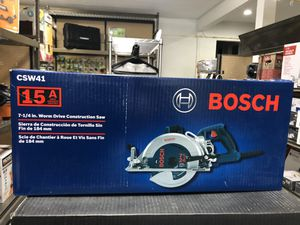 BRAND NEW Bosch 15 Amp 7-1/4 in. Corded Magnesium Worm Drive Circular Saw with Carbide Blade for Sale in Sunland-Tujunga, CA