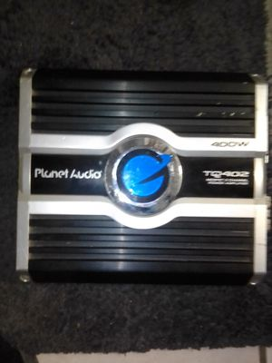 Car system amp. Name brand is planet audio 400w for Sale in San Bernardino, CA