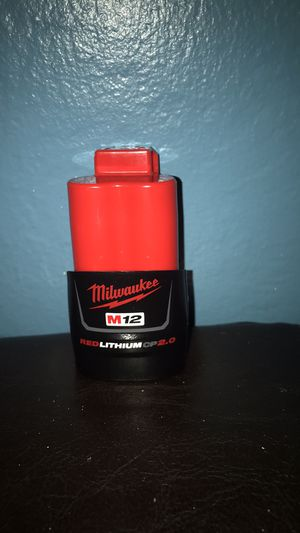 Milwaukee m12 battery 2.0**Firm 20**Firme 20 for Sale in Modesto, CA