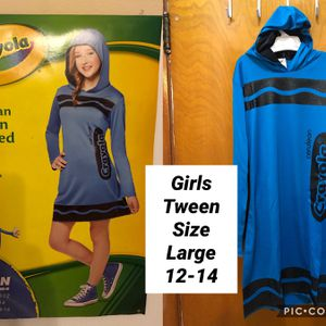 New Girls Crayola New Girls Tween Crayola Blue Halloween dress up costume dress size Large 12-14 for Sale in Chicago, IL