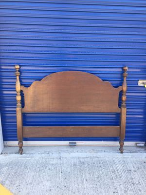 Antique Burkey and Gay Solid Hickory Full Size Headboard Bed for Sale in Diamond Bar, CA