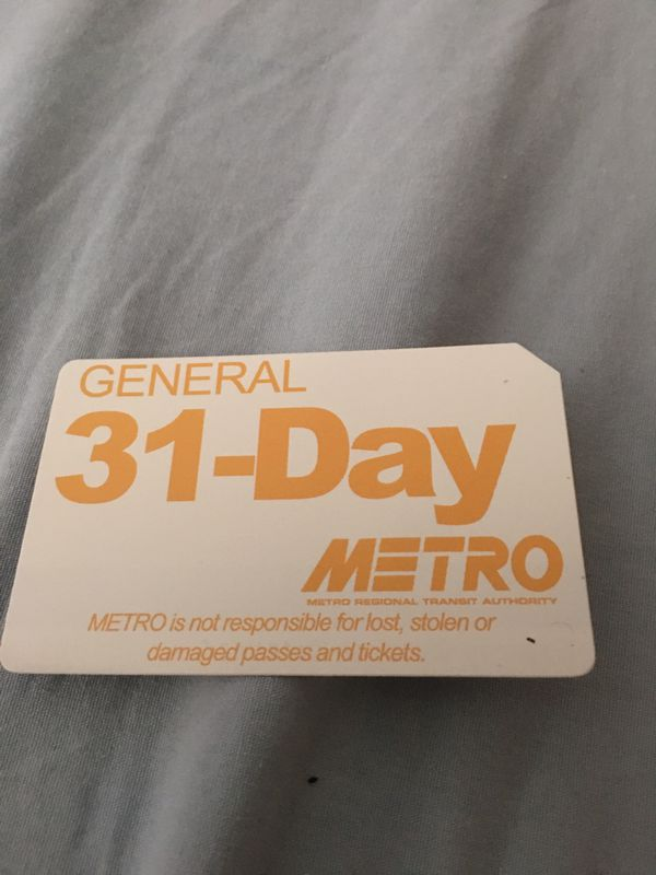31 day bus pass