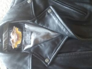 Harley Davidson beautiful leather jacket. Black size m. Gave over 400.00 a little over 6 yrs ago, asking 75 only worn 3 times . for Sale in New Port Richey, FL