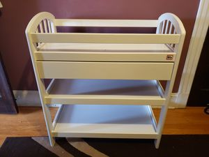 White changing table for Sale in Hartford, CT