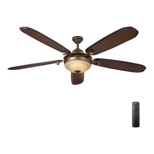 Home Decorators Collection Amaretto 70 in. LED Indoor French Beige Ceiling Fan with Light Kit and Remote Control for Sale in Port St. Lucie, FL