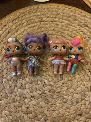 Lol dolls set of 4 for Sale in Los Angeles, CA