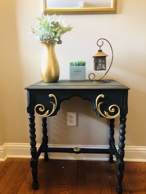 Hand painted Antique end/foyer table in Graphite and Gold. for Sale in Atlanta, GA