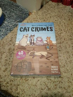 cat crimes board game for Sale in Redmond, WA