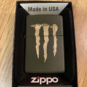 Zippo Monster Energy Logo(dark Green) for Sale in Cut Off, LA