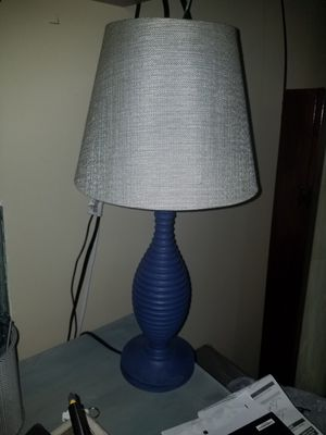 Small desk Lamp blue with grey shade for Sale in Seal Beach, CA