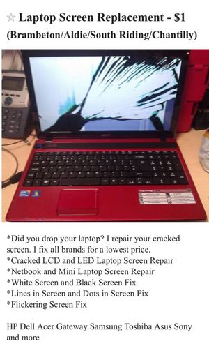 Laptop screen replacement for Sale in Ashburn, VA