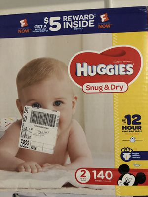 Huggies Snug and Dry Size 2 diapers for Sale in Union City, CA
