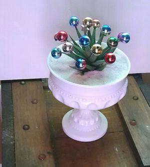 "Mini live ""Christmas tree"" in milkglass for Sale in Stone Mountain, GA"