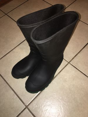 Black Rain Boots - Size 8 for Sale in Los Angeles, CA