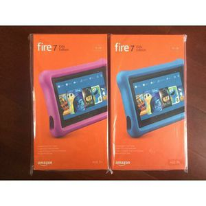 2 New Amazon Kindle fire 7's Kids Edition tablets for Sale in Ashland, OH