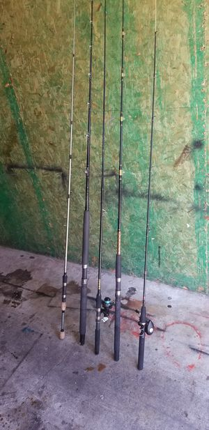 5 fishing rods for Sale in Oceanside, CA