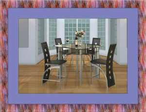 Counter height glass dining table with 4 chairs for Sale in Gambrills, MD