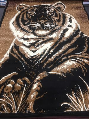 Tiger design area rug brand new 5 x 7 foot for Sale in Salem, OR