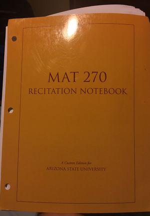 MAT270 Recitation Notebook for ASU for Sale in Tempe, AZ