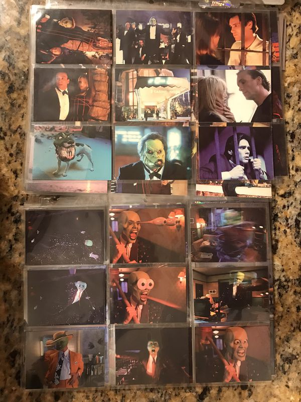 The Mask Trading Cards (1994) Complete Set in Folder.