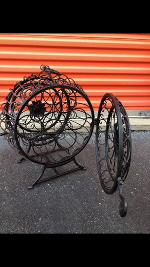 Wrought iron Wine Rack black for Sale in Duluth, GA
