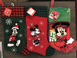 Disney Mickey Mouse Christmas stockings for Sale in Tacoma, WA