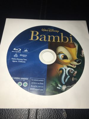 Disney's Bambi Blu-ray Disc Only for Sale in Corona, CA