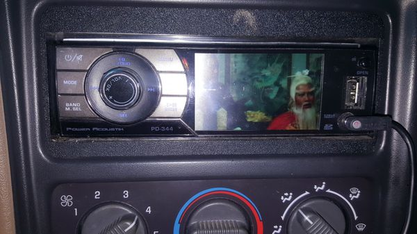 Power Acoustik PD 3 44 car radio 3.4 screen DVD player and CD