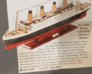 NEW-Titanic Collection Museum Replica for Sale in Jurupa Valley, CA