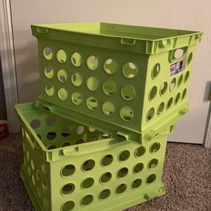 Sterilite Stackable Storage Crates (2) for Sale in Columbus, OH
