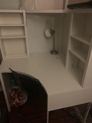 Ikea White Desk & Chair for Sale in Costa Mesa, CA