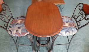 Awesome Pub table and 2 chair set with built in wine rack for Sale in Rancho Cucamonga, CA