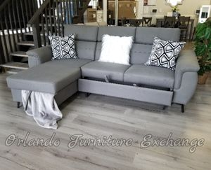 $789 FREE DELIVERY! BRAND NEW GREY SECTIONAL SOFA WITH BED for Sale in Oviedo, FL