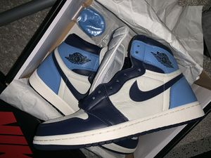 UNC obsidian Sail white retro Jordan 1 size 10 VNDS for Sale in Humble, TX