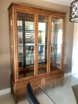 Oak China Cabinet for Sale in San Clemente, CA