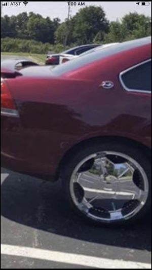 22 inch low profile chrome rims and tires for Sale in Lee's Summit, MO