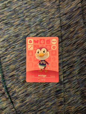 Animal Crossing Amiibo Card Midge for Sale in Morgantown, WV