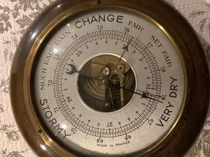 Antique French Spring Mechanism Barometer, works perfect for Sale in Rutherford, NJ